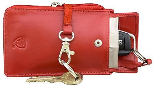 Koruma Keyless Go Schutz Autoschlüssel Schutz Keyless Hülle RFID Blocker Rot Leder Funkschlüssel Abschirmung Schlüsseltasche Schlüsseletui Schlüsselmäppchen Car Key Safe