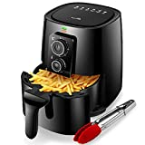 KitCook Air Fryer Oven, 4.2 Quart Healthy Oil-Free Air Fryer, Electric Vegetable Air Fryer Easy Operation with Simple Knob Controls for Frying, Roasting, Grilling, Baking, Tray & Food Tong Included