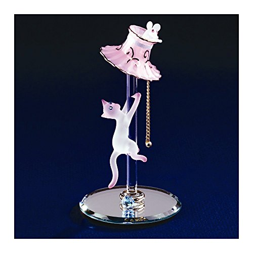 Glass Baron Cat with Lamp