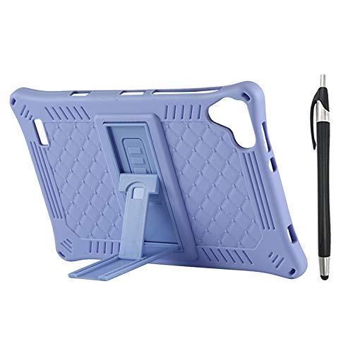 Gesh Funda para tablet Teclast P80 P80X P80H de 8 pulgadas de silicona con función atril y lápiz capacitivo, color morado