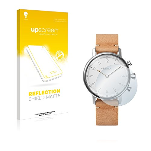 upscreen Entspiegelungs-Schutzfolie kompatibel mit Kronaby Nord 38 mm – Anti-Reflex Bildschirmschutz-Folie Matt
