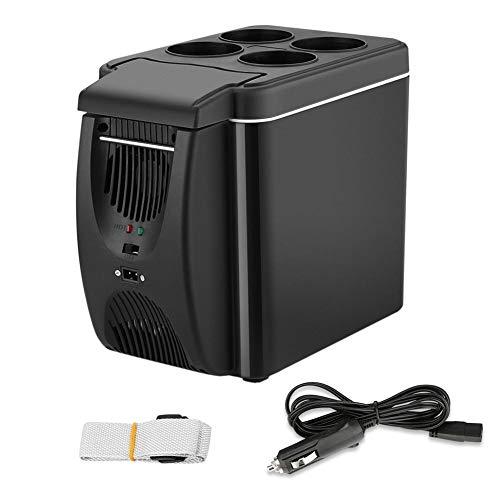 GNLIAN HUAHUA refrigerador 12V refrigerador Congelador Calentador 6L Mini Congelador de automóviles Enfriador y Calentador, Nevera eléctrica Hielo portátil Refrigerador de Viaje (Color Name : Black)