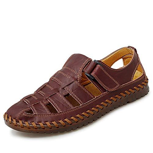Hombres Sandalias Playa Zapatos Sandalias Soft Sole Moda Hombres Zapatillas de Cuero Flip Flobs,s,1,'en Red 11