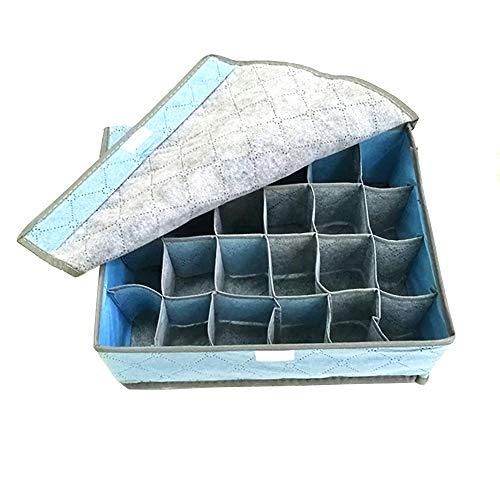 JOJYO Aufbewahrungsbox,Unterwäsche Organizer Aufbewahrungsbox Faltbar ür 24 Zellen Faltbare Ordnungsbox für Unterwäsche Aufbewahren,Socken,Schals,Büstenhalter