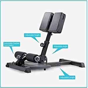 leikefitness Deluxe Multi-Function Deep Sissy Squat Bench Home Gym Workout Station Leg Exercise Machine Black-8300