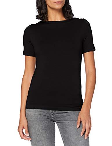 VERO MODA Womens VMPANDA MODAL S/S TOP GA NOOS Shirt, Black, M