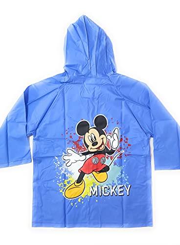 REQUETEGUAY Chubasquero Mickey Mouse para Niños - Impermeable Mickey Mouse Disney Tipo Chaqueta con Capucha y botones (Talla 4 | 4-5 años)