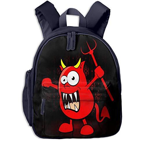 Bolsa La Escuela Mochila con El Demonio de los Monstruos para Impermeable Mochilas para Niños Niñas
