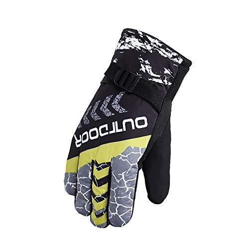 Handschuhe Herren Winter Outdoor Sport Vollfingerhandschuhe mit warmen und samtdicken Baumwollhandschuhen zum Skifahren Warme Sportspiele-Handschuhe