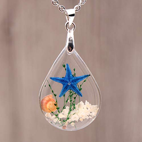Simsly Fashion Necklace Starfish Pendant Drop Handmade Necklaces Chains Jewelry for Women and Girls