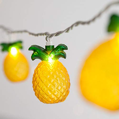 SUNSGNE Pineapple String Lights, Outdoor String Pineapple Lights, Outdoor Party Lights, Summer Patio String Lights, String Pineapple Lights, Hawaiian Themed Lights