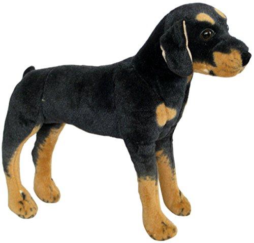 Wagner 1027 - Plüschtier Hund Rottweiler - stehend - 51 cm Kuschelhund Stofftier