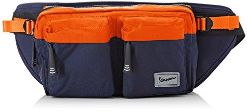 Vespa Footwear Unisex Weekend Rucksack, Blu (Blu/Arancione), 39x14x5 cm (W x H x L)