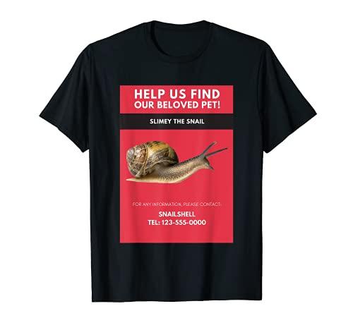 Caracol, Crawler, Escargot, Entomologa Camiseta
