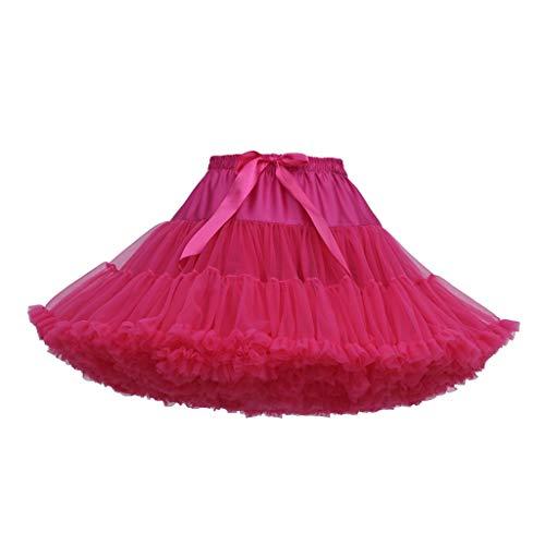 VEMOW Heißer Elegante Mädchen Karneval Mode Einfarbig Tanzparty Tanz Ballett Nette Tutu Tüll Röcke (H, Freie Größe)
