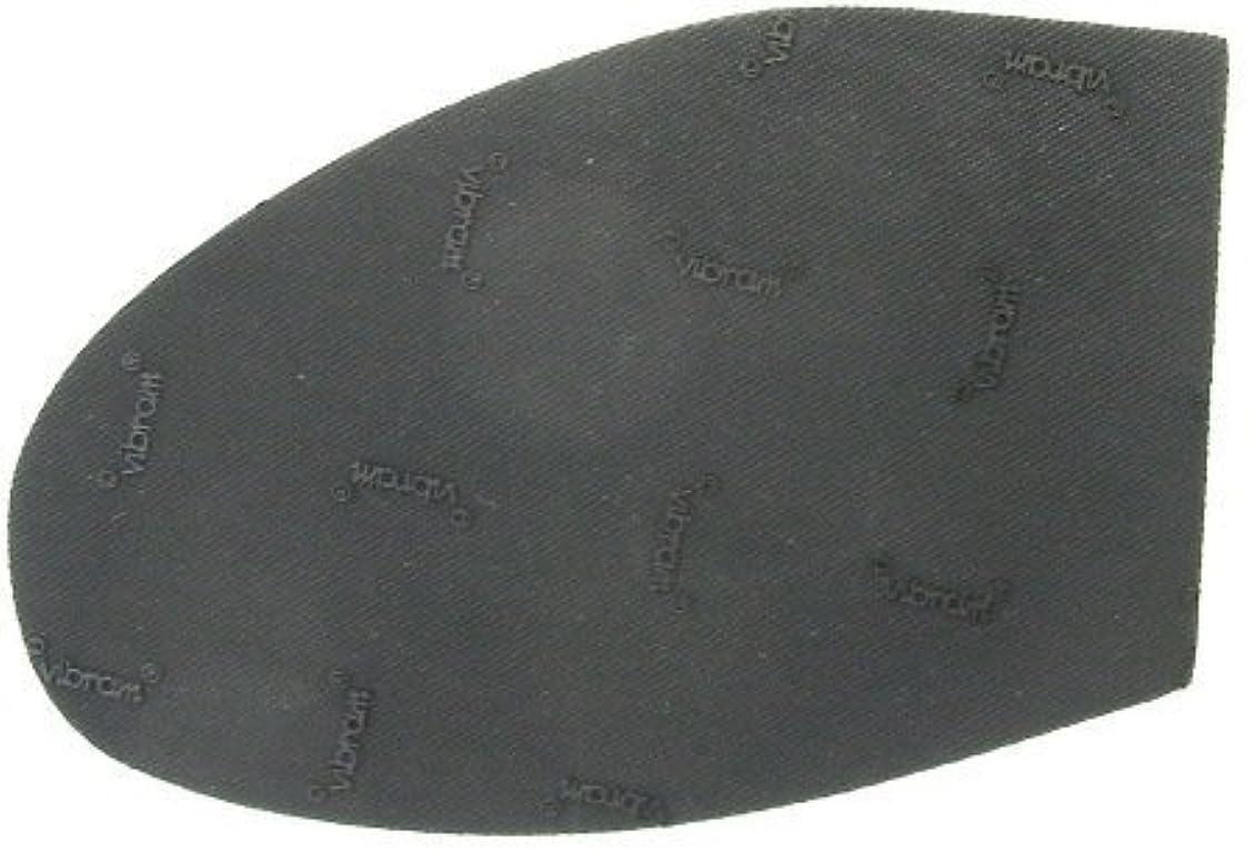 確認するマウンドスリッパビブラム vibram 半張り No.7673 黒カラー/ No.3サイズ【靴底修理?靴底補修シート】