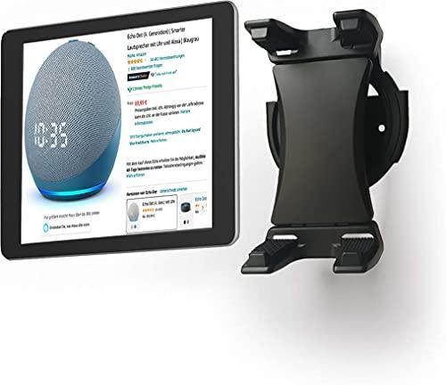 WINOK Soporte de pared para tableta, giratorio 360°, para smartphones y tablets de 4,7 a 12,9 pulgadas, apto para cocina, baño, dormitorio, sala de lectura