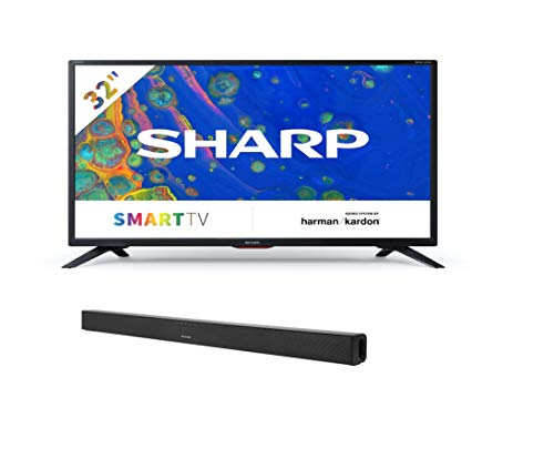 Sharp 32BC6E - Smart TV de 32' + HT-SB140MT 2.0 - Barra de Sonido