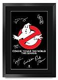 HWC Trading Ghostbusters A3 Gerahmte Signiert Gedruckt