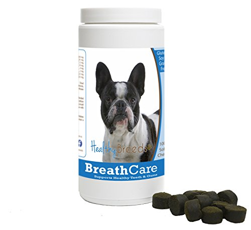 Healthy Breeds French Bulldog Breath Care Soft Chews for Dogs 60 Count