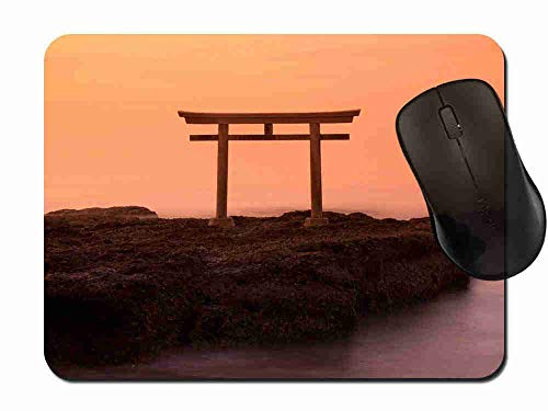 Mauspad Sonnenaufgang-Ansicht Torii Japan Rutschfeste Gummi Basis Mouse pad, Gaming und Office mauspad für Laptop, Computer PC 1H383