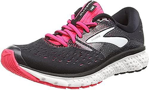 Brooks Womens Glycerin 16 Running Shoe - Black/Pink/Grey - B - 9.0