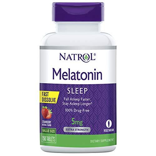 Natrol Melatonin 5mg F D Tab-150 5 mg Strawberry   FD