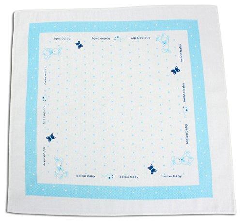 3-unidades pañuelos de algodón/diseño de cuadrados para niños y adultos - H024