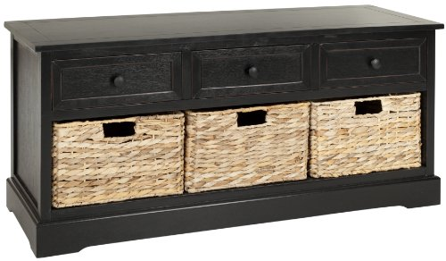 Safavieh American Homes Damien 3-Drawer Storage Unit, Distressed/Black