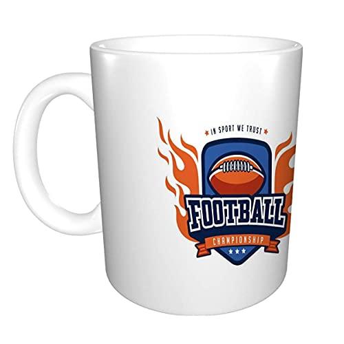 N\A Taza de café Personalizada 11 onzas Taza de té de cerámica Insignia de fútbol diseño de Logotipo Equipo Deportivo