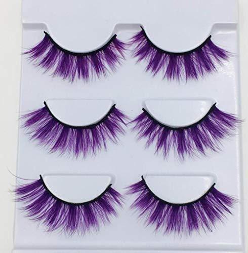 SGHR Purple Cross Longs Faux Cils Maquillage épais Cils, 002