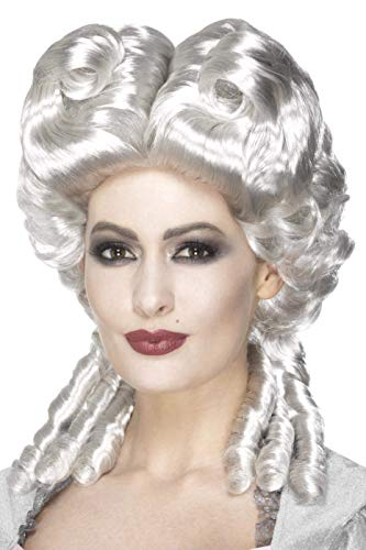Smiffys dames Marie Antoinette pruik, één maat, wit, 45087