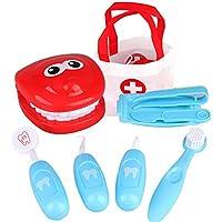 DDG EDMMS Regalo Dentista Juguete Divertido Doctor Toy Playset Cosplay Set de Juguetes educativos para niños (Azul) 1 Set