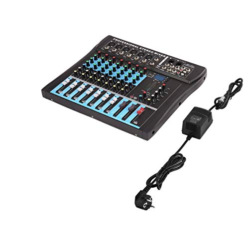 Mezclador estéreo, 8 canales Mezclador estéreo profesional Live USB Studio Audio Consola Dispositivo de anclaje a red Procesador de efectos vocales