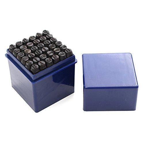 KUNSE 36Pcs 6Mm Stahl Stanzen Alphabet Buchstaben Nummern Stamp Tool Metall Lederhandwerk