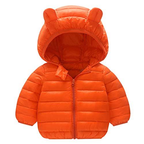 Dasongff Enfant Blousons à Capuche Vestes de Sport Fille Garçon Hoodie Doudoune Hiver Manteau Duvet Unisex Chaud Compressible Coton Veste
