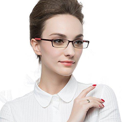 KLESIA 老眼鏡 ブルーライトカット 超軽量 コンパクトに収納 リーディンググラス ファッション (度数:+1.0, 赤 レッド)