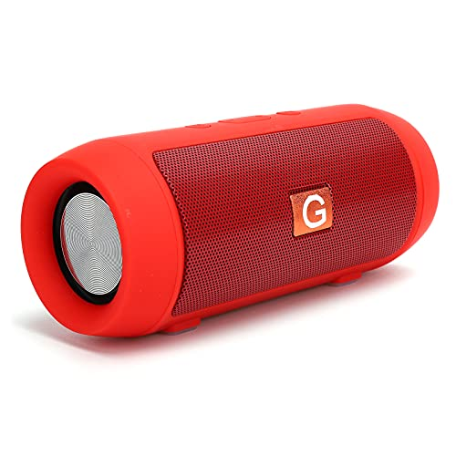 Byged Bluetooth Speaker with FM Radio, Mini Subwoofer Wireless Portable Bluetooth 4.2 Speakers with Memory Stick Slot/Micro Memory Card Slot for Home,Outdoor,Travel, Electronics Accessories(Red)