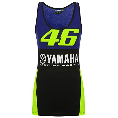 2019 Valentino Rossi VR46 Damen Tank Top Damen Mädchen Weste Yamaha Factory Racing, blau, Womens (XL) 98cm/39 Inch Chest