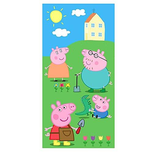 Peppa Pig Toalla de playa y ducha, 70 x 140 cm, PP192014