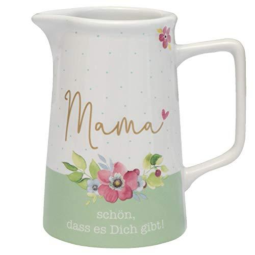 GRUSS & CO 46880 Kanne Mama Schön dass es dich gibt, Porzellan, mit Geschenk-Banderole Kännchen, 300 milliliters