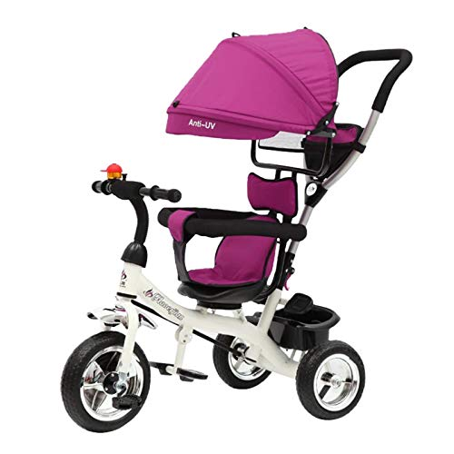 Triciciclo para niños, 2 en 1, triciclo para bebé, triciclo, empujador de acero, juguete de regalo rojo, Reino Unido en stock 2021