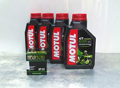 Motul 4 litres d'huile Motul 5100 15W50 pour moto à moteur 4T, huile synthétique Technosynthese