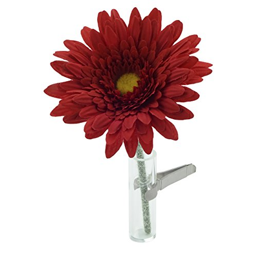SANDINI Vase Voiture avec Fleur de Soie/Accessoires Voiture – Le Vase de Voiture culte