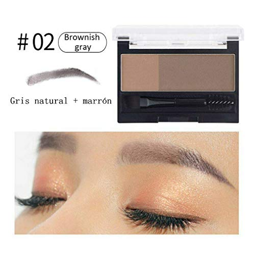 HAZUN Sello de cejas ajustable - Crea fácilmente cejas de aspecto natural - Lápiz de cejas resistente al agua para una definición y plenitud duraderas (Color 2)