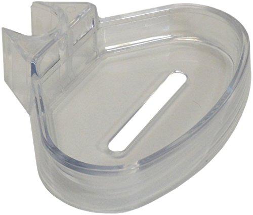 sanicomfort 1836455 zeepbakje doucheplank voor wandstang 18 en 22 mm, transparant