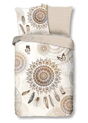 Traumschloss Kyara Feinbiber Bettwäsche Garnitur aus Baumwolle, Größe:135x200 / 80x80