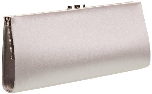 MENBUR Damen Paxton Clutches, Silber (Pearl Grey 90), 25x13x5 cm
