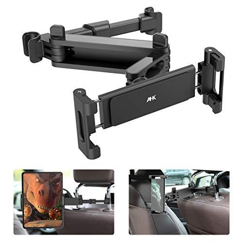 """AHK Tablet Halterung Auto, Ausziehbare KFZ Kopfstützenhalter für 2020 iPad Pro 12.9\"""", iPad Air Mini 2 3 4, Switch, Samsung Tab, Smartphone und Tablet mit 4,7-13 Zoll - Schwarz"""