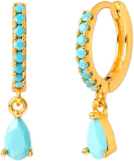 PJRYC Tremella Buckle Earrings Women's Limited Special Price Crystal Black Rainbow Zir Award-winning store